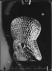 3D Owl Chocolate Mold - Back