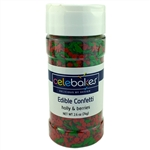 Holly & Berries Edible Confetti Christmas holiday cookies cupcake