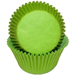 Lime Green Round Baking Cups