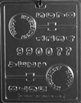 Happy Anniversary with Numbers Lolly Chocolate Mold
