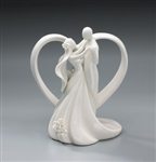 Ivory Ceramic Dancing Couple Wedding Topper
