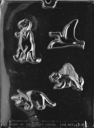 Four Dinosaurs Chocolate Mold