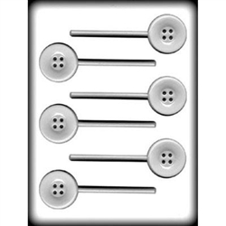 Buttons Lollipop Hard Candy Mold