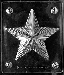 Large Star Pour Box Chocolate Mold - Top