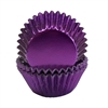 Mini Purple Foil Baking Cups - 500 Pack