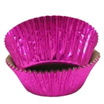Hot Pinke Foil Baking Cups - 500 Count