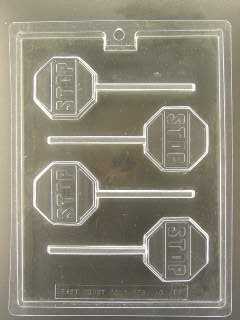 Stop Sign Pop Chocolate Mold
