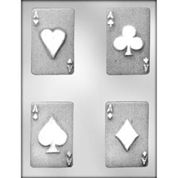 "Playing Card 3-1/2"" Chocolate Mold - (90-13477)"