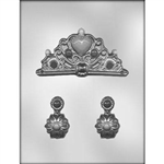 Crown and Earrings Chocolate Mold