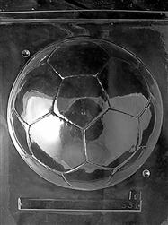 3D Large Soccer Ball Chocolate Mold