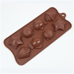 Shells Set Silicone Candy Mold fat daddio chocolate treat dessert