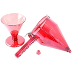 Polycarbonate Confectionery Funnel with Stand