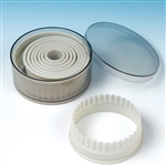 Nylon Fluted Round Pastry / Cookie Cutter Set