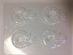 "2-1/2"" Holly Wreath Chocolate Mold Christmas winter holiday 90-4511"