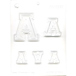 Collegiate Letters A Chocolate candy Molds fraternity sorority college