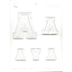 Collegiate Letters A Chocolate Molds