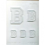 Collegiate Letters B Chocolate Molds