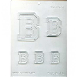 Collegiate Letters B Chocolate Molds fraternity sorority college