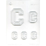 "Collegiate Letter ""C"" Chocolate Candy Mold college sorority fraternity football chicago"
