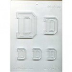 "Collegiate Letter ""D"" Chocolate Mold college fraternity sorority track dartmouth Duke"