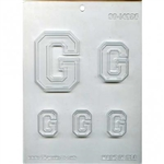 "Collegiate Letter ""G"" Chocolate Candy Mold football college fraternal greek"