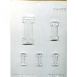 "Collegiate Letter ""I"" Chocolate Mold"