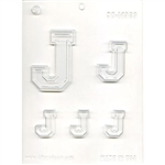"Collegiate Letter ""J"" Chocolate Candy Mold lacrosse college football"