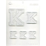 "Collegiate Letter ""K"" Chocolate Mold college gymnastics college fraternal"