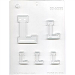 "Collegiate Letters ""L"" Chocolate Mold"