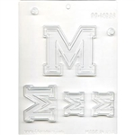 "Collegiate Letters ""M"" Chocolate Mold greek fraternal NCAA basketball"