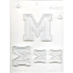 "Collegiate Letters ""M"" Chocolate Mold"