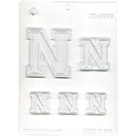 "Collegiate Letter ""N"" Chocolate Mold Nebraska baseball"