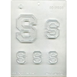 "Collegiate Letter ""S"" Chocolate Mold"