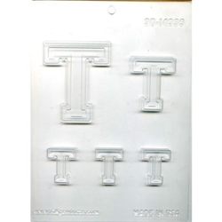 "Collegiate Letter ""T"" Chocolate Mold"
