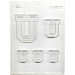 "Collegiate Letter ""U"" Chocolate Mold"
