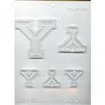 "Collegiate Letters ""Y"" Chocolate Mold"