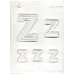 "Collegiate Letters ""Z"" Chocolate Mold"