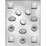 Assorted Fancy Shapes Chocolate Mold
