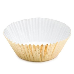 "4-1/4"" Gold Foil Baking Cups - 100 Pack"