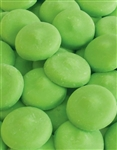 Bright Green Vanilla Flavored Candy Wafers - 12 Ounce Bag