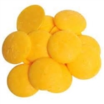 Bright Yellow Vanilla Flavored Candy Wafers - 12 Ounce Bag