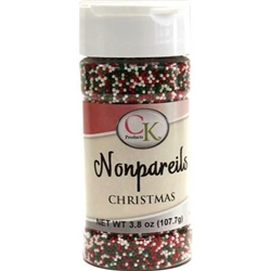 Christmas Nonpareils - 3.8 Ounce Bottle