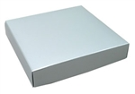 Silver Lustre Half Pound Candy Box Lids - 50 Pack