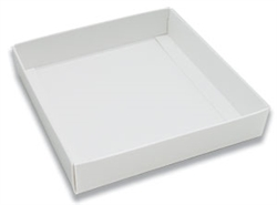White Half Pound Candy Box Bottom Only - 5 Pack