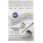 Colorburst Pastel Vanilla Flavor Candy Melt Wafers - 10 Ounce Bag