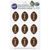 Football Shaped Cupcake Icing Decorations - 9 Pack