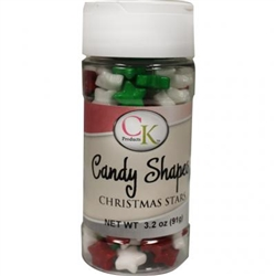 Christmas Stars Candy Shapes - 3.2 Ounces