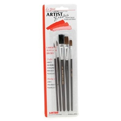 Hobby Artist Paint Brush Set - Set of 5