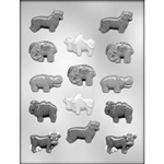 Animal Assortment Chocolate Mold 90-11185 tiger hippo elephant bull cow camel