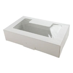 One Half Pound White Window Cookie Box